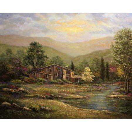 Dover Cottage Canvas Art - Sambataro (22 x 28)