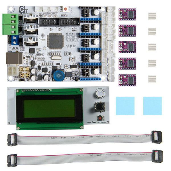Clock Kit Temperature Light Control Version DIY 4 Digit LED Electronic. 3D Printer Motherboard GT2560   DRV8825 Driver   LCD2004 Kit  Introduction:  GT2560 is a compact board that is integrated with the mighty function of the Arduino Mega2560   Ultimaker. The GT2560 can not only take full place the Arduino Mega2560   Ultimaker on respect of both software and hardware, but has more premium features: the streamlined interfaces effectively avoid the unnecessary troubles, well-regulated…