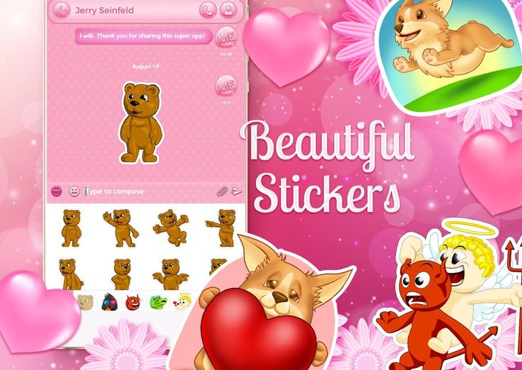 Beautiful stickers for your sms plus theme!!