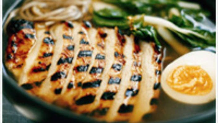 Chargrilled chicken, soba and miso soup   You might also like our Japanese miso soup recipe with tofu, as seen on Food Safari. Or, view all our Japanese recipes, including classic dishes such as tempura avocado rolls, and chicken and wakame soup.