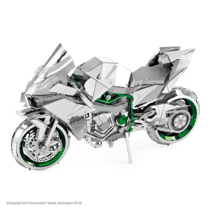 Kawasaki Supercharger Kits: Metal Earth ICONX Kawasaki Ninja H2R Motorcycle 3D Model