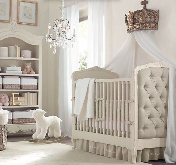 Very Restoration Hardware, cute for a girls' nursery