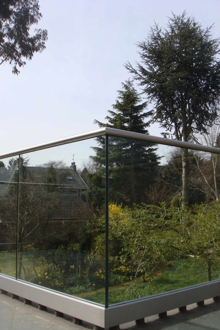 Glass Balcony - 15mm Structural Glass with Stainless Handrail