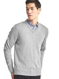 Gap grey merino v-neck