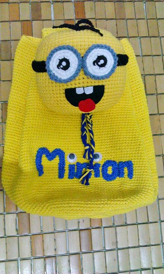 Crochet Minion Bag by AprilLeeDesign on Etsy
