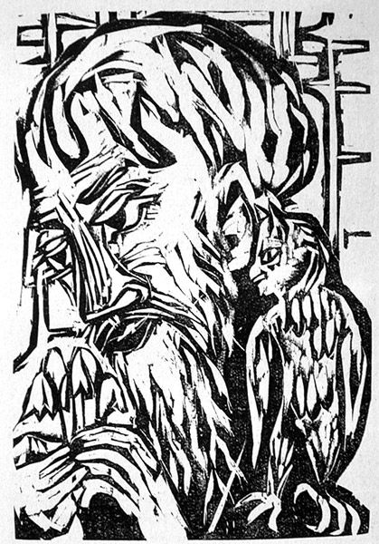 Woodcut by Ernst Ludwig Kirchner