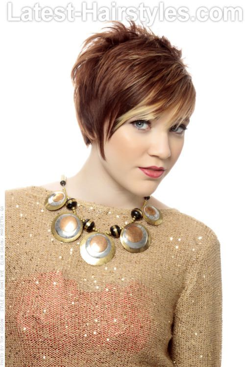 Short Asymmetric Hairstyle with Bangs