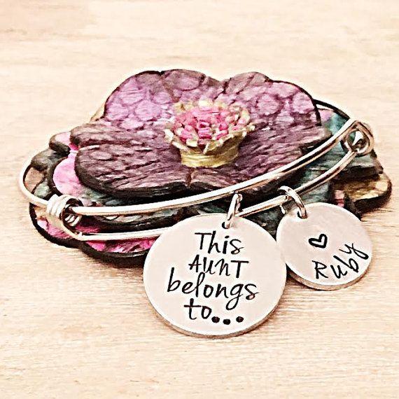 Aunt Gift Gifts for Aunts Bracelet for by LastingImpressionsCT