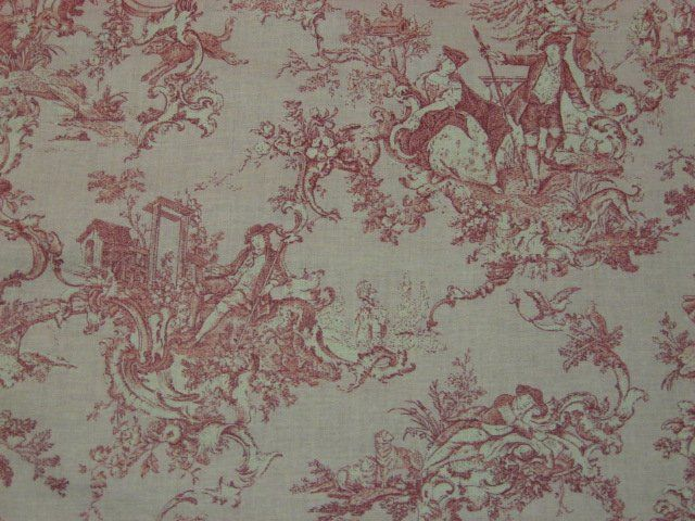 1000 images about pink and girly on pinterest vintage for French toile fabric