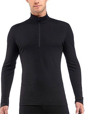 icebreaker oasis ls half zip t shirt laine merinos homme