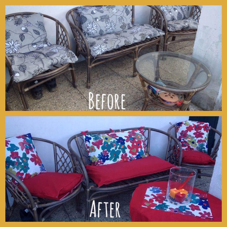 Restyling garden ikea fabric by rajaninahandmade
