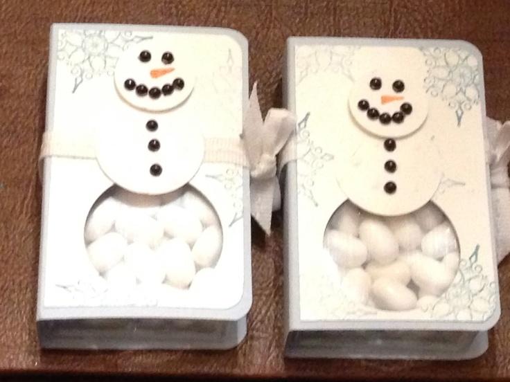 Snowman Tic-Tac Holders / Secret Santa Ideas Tutorial included