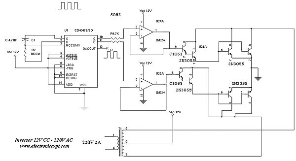 500 W Inverter Electrical Diagram  With Images