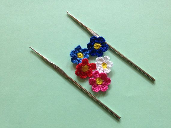 Flowers applique Crochet applique Cotton by LittleFlowerbyGloria