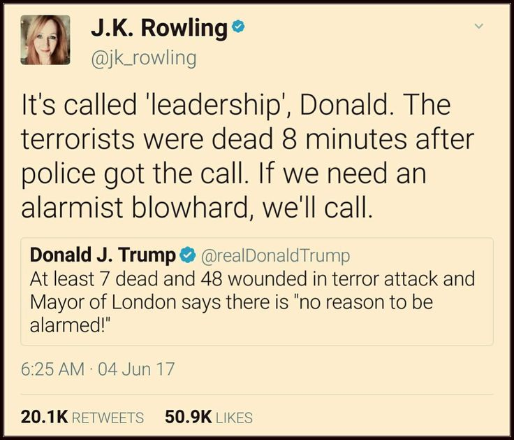 If We Need An Alarmist Blowhard, We'll Call | JK Rowling Slams Trump After He Twisted Words & Criticised London Mayor Unfairly |#DumpTrump #LondonAttacks
