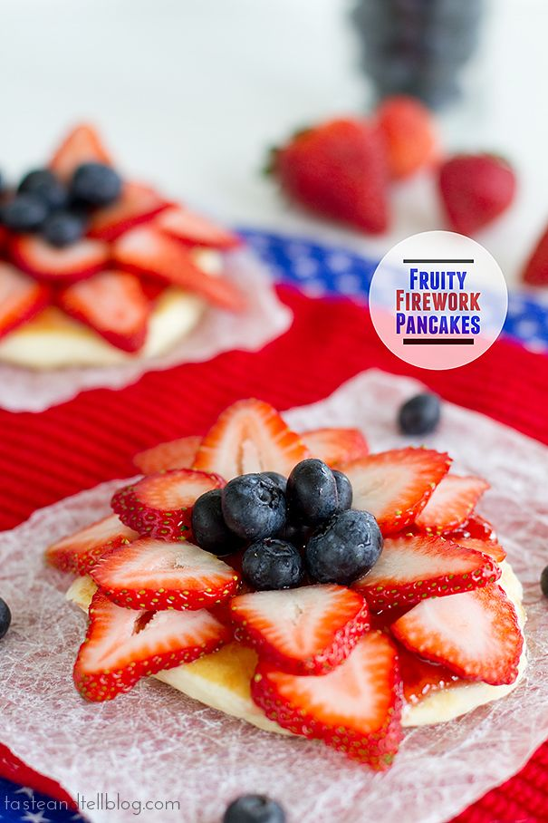 Fruity Firework Pancakes | www.tasteandtellblog.com