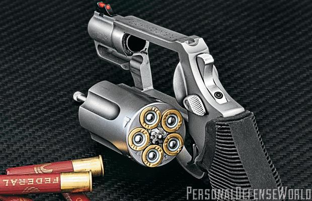 A pistol that can dispense five rounds of .410 ga. 000 buckshot and maintain a tight pattern at up to 7-yards makes one heck of a deterrent to anyone on the receiving end.