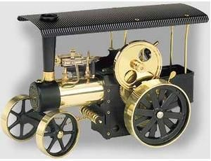 The Wilesco D416 Traction Steam Engine Kit is fully operational steam roller and traction engine in kit form, for the enthusiast. With clear and detailed easy to follow assembly instructions. In an attractive gift pack with large poster. The technical details are identical to the assembled models. It's not necessary to solder. The technical specifications are identical to those of the standard type D 405.