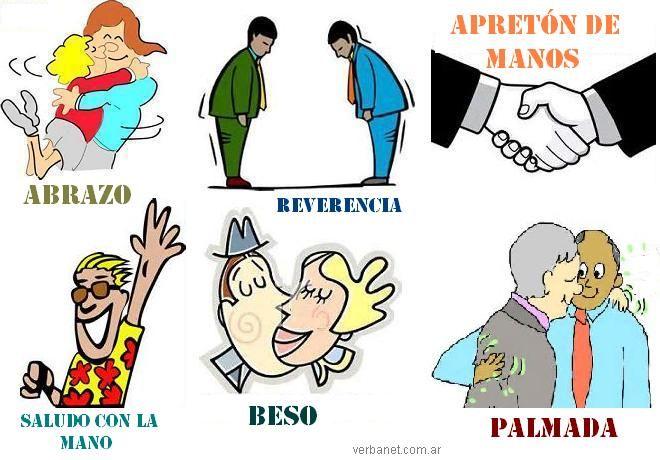 Formas de saludar: їBeso, abrazo o apretуn? - Lectura y conversaciуn en verbanet.com.ar/edp.html