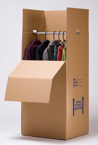 how to pack wardrobe boxes for moving