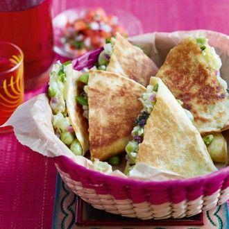 Thomasina Miers' Broad Bean, Pea & Sweet Potato Quesadilla