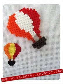 Hama/Perler - Hot air balloons