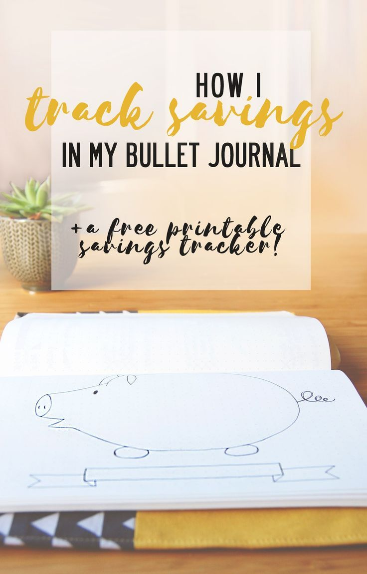 Get your own free savings tracker for your Bullet Journal!