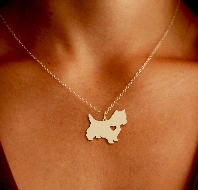 Westie Pendant Necklace - Gold or Silver