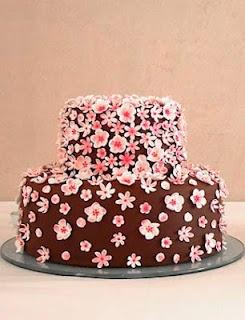 Chocolate petal cake by Maisie Fantasie.