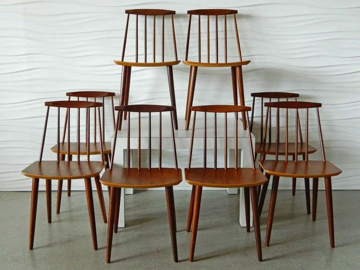 Vintage J77 Teak Chairs by Folke Palsson 2