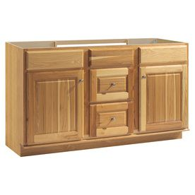 Style Selections Cotton Creek Natural Traditional Bathroom Vanity (Common: 60-in x 21-in; Actual: 60-in x 21-in)