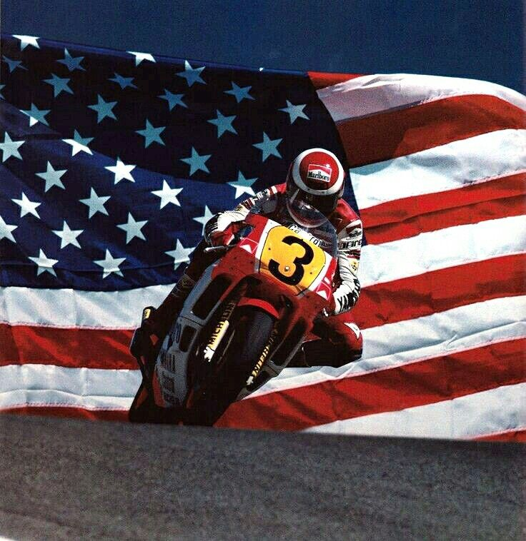 EDDIE LAWSON. 1988 USA Grand Prix en Laguna Seca, California.