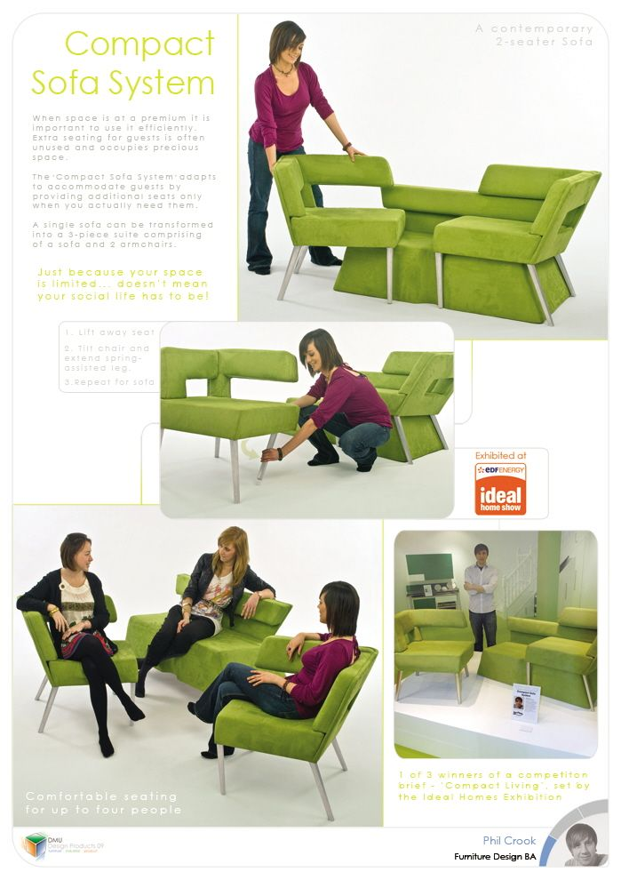 Compact Sofa System by Phil Crook at Coroflot.com