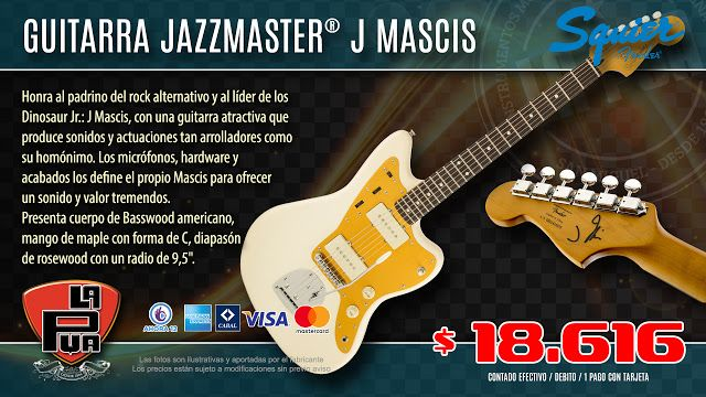 La Púa San Miguel: Guitarra SQUIER® JAZZMASTER® J MASCIS