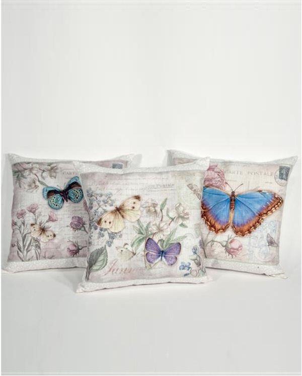 Kudde fjärilar 3 sorter shabby chic lantlig stil