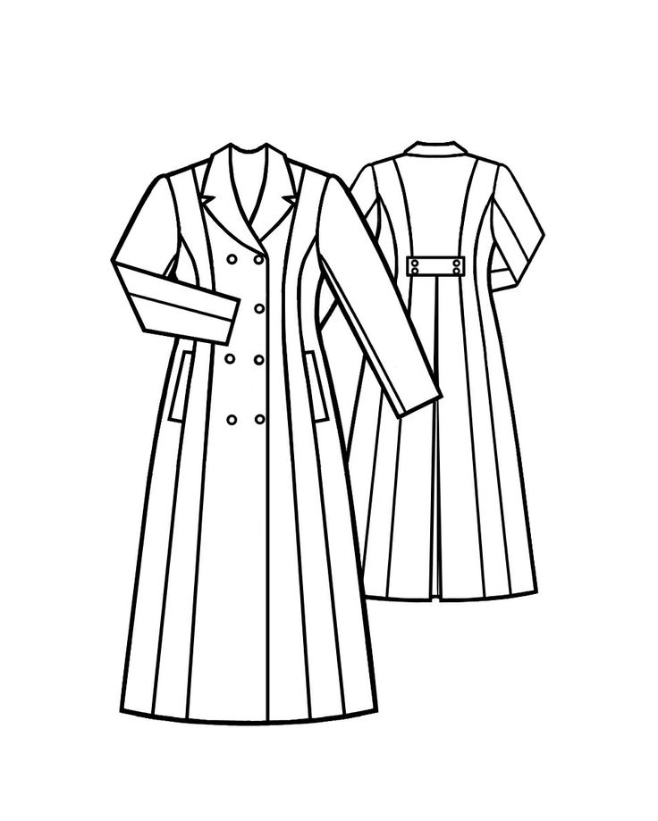 Manteau  - Patrons de couture #5006. Made-to-measure sewing pattern from Lekala with free online download. Fitted, Darts, Pleats, Buttoned, Jewel neck, Stand collar, Long sleeves, Set-in sleeves, Cuff sleeves.