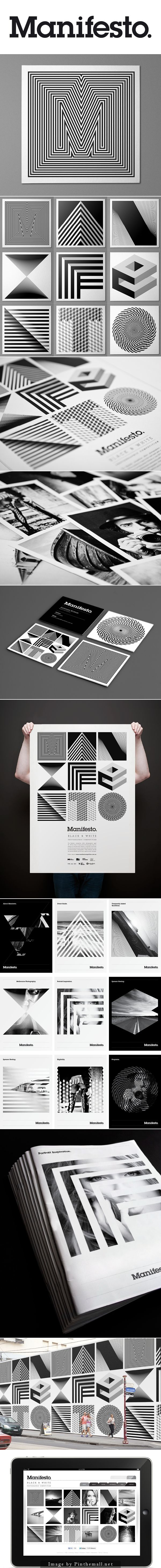 Manifesto Identity - Josip Kelava. Manifesto is a black and white photographic competition for university students studying Photography in Melbourne.