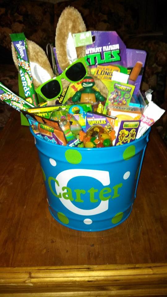 7 best crafts for kiddos images on pinterest easter bunny for carters ninja turtle easter basket 2014 negle Choice Image