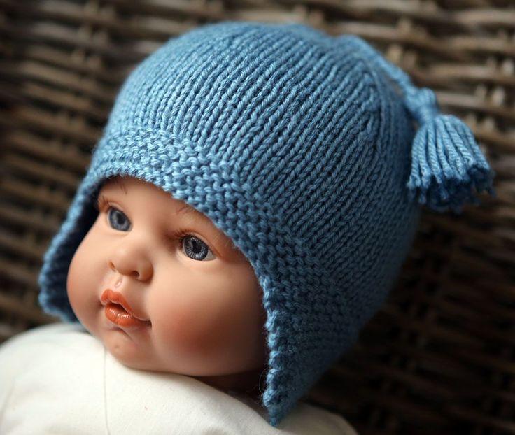 photo tricot modele tricot bonnet bebe naissance 18