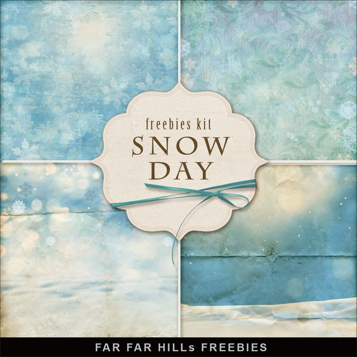 New Freebies Kit of Backgrounds - Snow Day