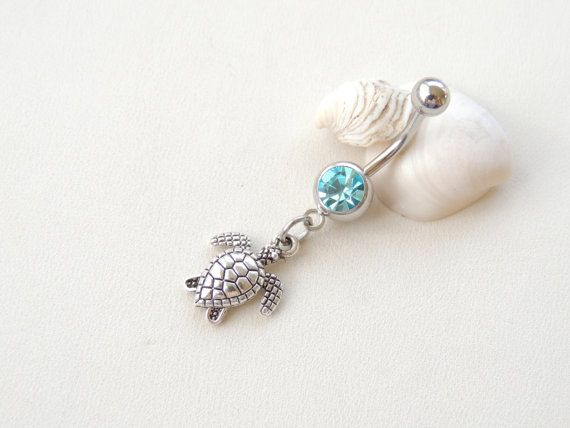 Turtle Belly Button Ring Belly Button by SeductiveBodyWorks