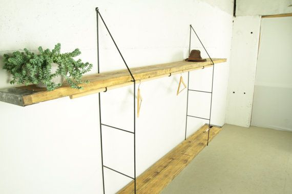 Wall Mounted Shelves Reclaimed Wood Hanging Shelf by Kentholz