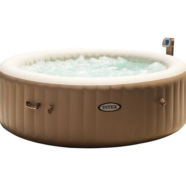 Spa Gonflable Intex Pure Spa Bulles Rond 6 Places Assises Spa