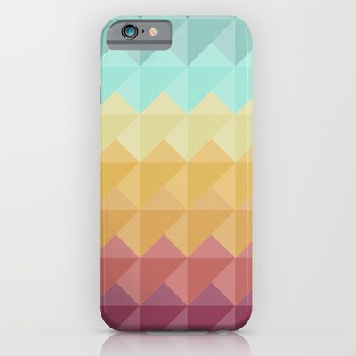 Retro Triangles iPhone & iPod Case by Refreshdesign
