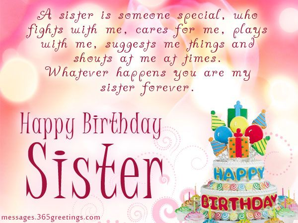 Sister Birthday wishes that warm the heart Holiday Messages, Greetings and Wishes - Messages, Wordings and Gift Ideas