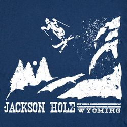 Snow Ski Jackson Hole Wyoming Snowboard Vintage T Shirt