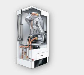 Das Gas-Brennwert-Wandgerät Vitodens 300-W ist die ideale Lösung für Niedrigenergie-und Passivhäuser. Mit dem besonders hohen Modulationsbereich von bis zu 1:10 erfüllt der MatriX-Kugelbrenner die Anforderungen in Häusern mit geringem Wärmebedarf. Darüber hinaus überzeugt der Brenner durch zuverlässigen und effizienten Betrieb sowie niedrige Schadstoff- und Geräuschemissionen.