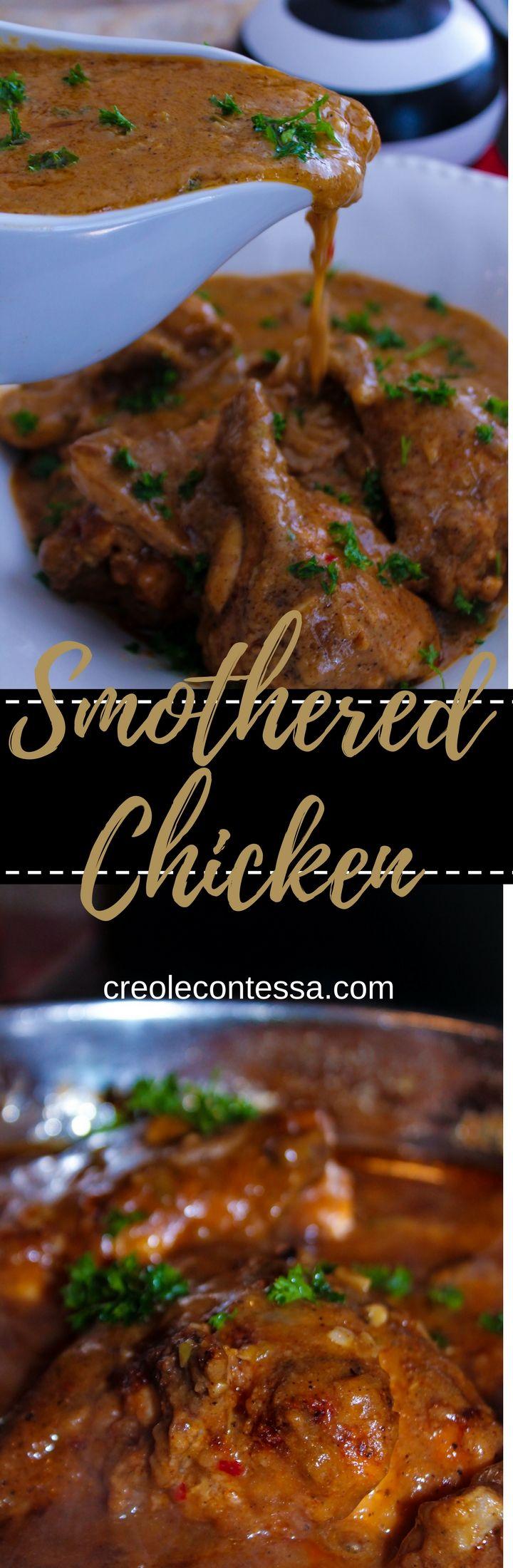 Smothered Chicken with Creamy Mushroom Gravy - Creole Contessa