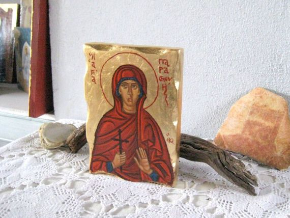 Saint Paraskevi Holy Martyr Paraskeva of Rome by angelicon on Etsy