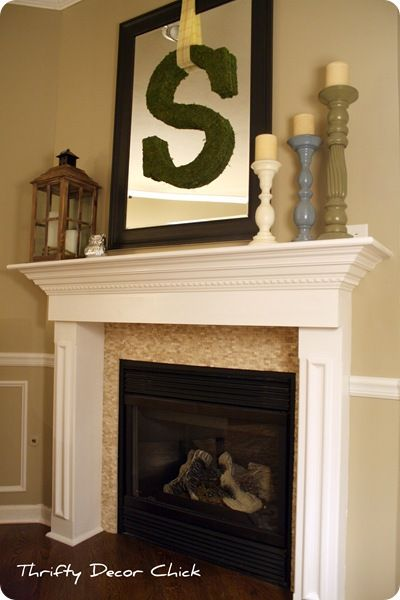 Thrifty Decor Chick A Fireplace Redo For The Home Pinterest Initials Fireplaces And